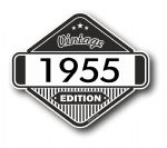 VIntage Edition 1955 Classic Retro Cafe Racer Design External Vinyl Car Motorcyle Sticker 85x70mm